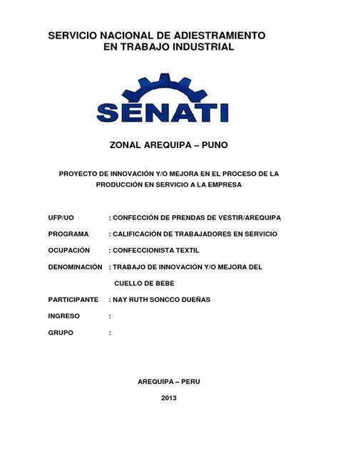 caratulas de senati para word tesis senati pdf
