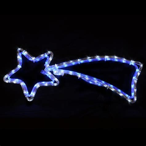 flashing blue white led mains voltage festive christmas