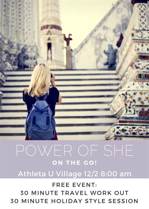 youre invited travel workout style event  athleta