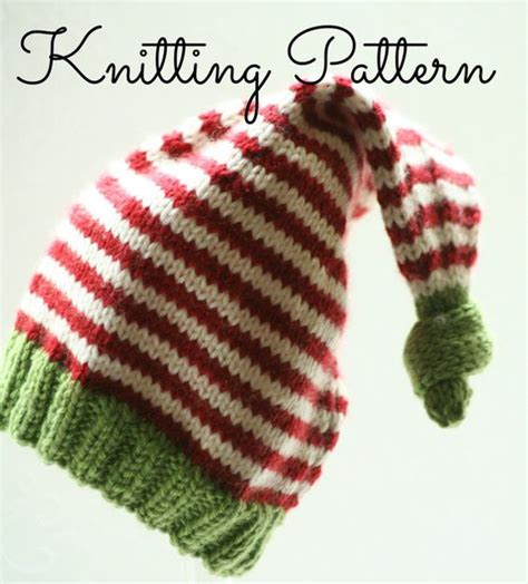 knitting pattern christmas elf knitting pattern diy instructions baby christmas elf hat