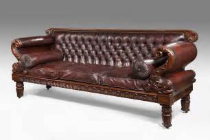 antikes sofa leather regency antique sofa by gillows of lancaster