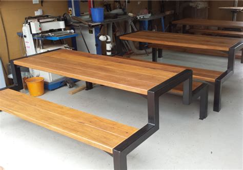 steel picnic table frame simple and stylish timber and steel framed commercial and