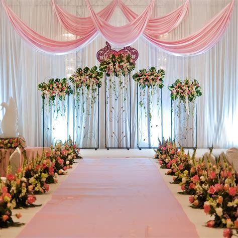 8x8ft Romantic Wedding Stage Backdrop Photography