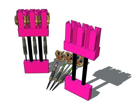 universal dart holder  model  printable stl cgtradercom