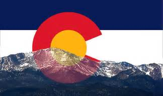 colorado state colors quot pikes peak colorado flag quot by emily christine lankford