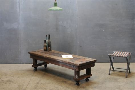 bench as coffee table craftsman rolling coffee table bench factory 20