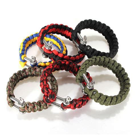 Handmade Paracord Bracelets - 6 colors self rescue adjustable paracord survival bracelet