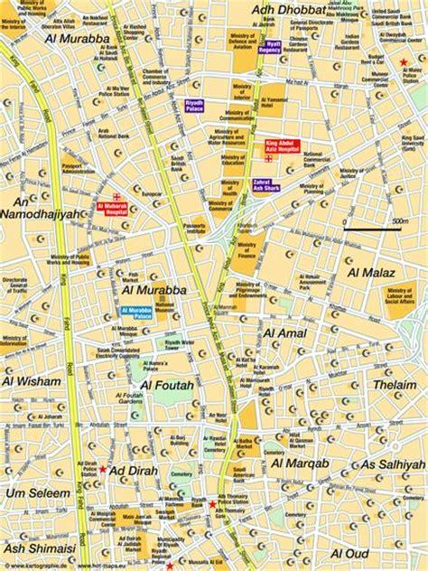 map of riyadh city map riyadh riyad saudi arabia city centre central