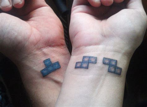 couple puzzle piece tattoo fantastic design creativefan