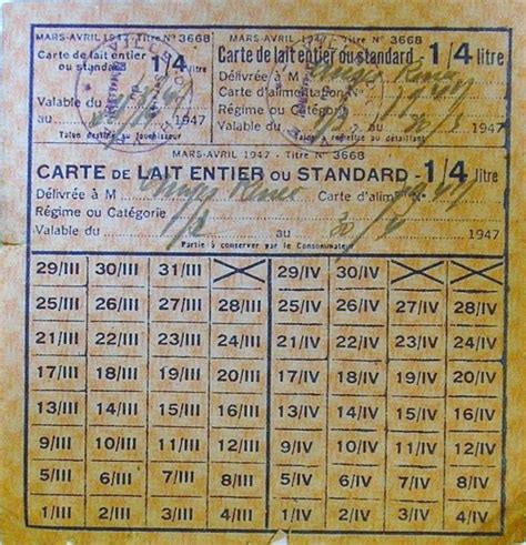 Tickets De Rationnement by Cartes Tickets Et Bons Rationnement Guerre 39 45