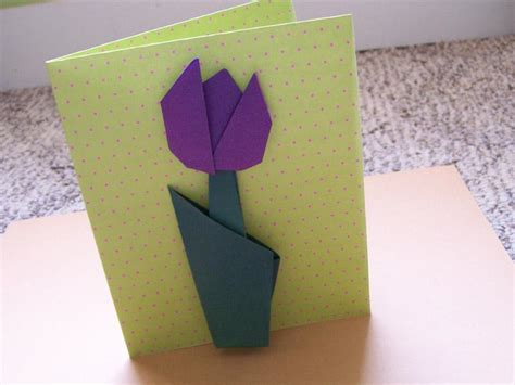 Origami For Cards - origami flowers for cards slideshow