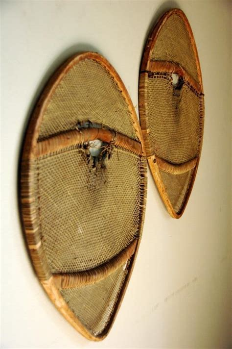 Antique American Indian Children Snowshoes Antique American Indian Snowshoes Bearpaw Vintagewinter