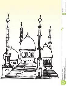 sketch of muslim mosque stock photos image 12814453