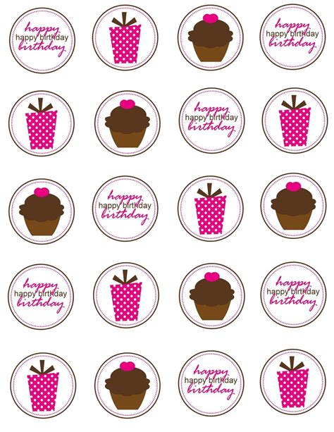 printable cake toppers printable cupcake toppers birthday by simplysweetpartyshop