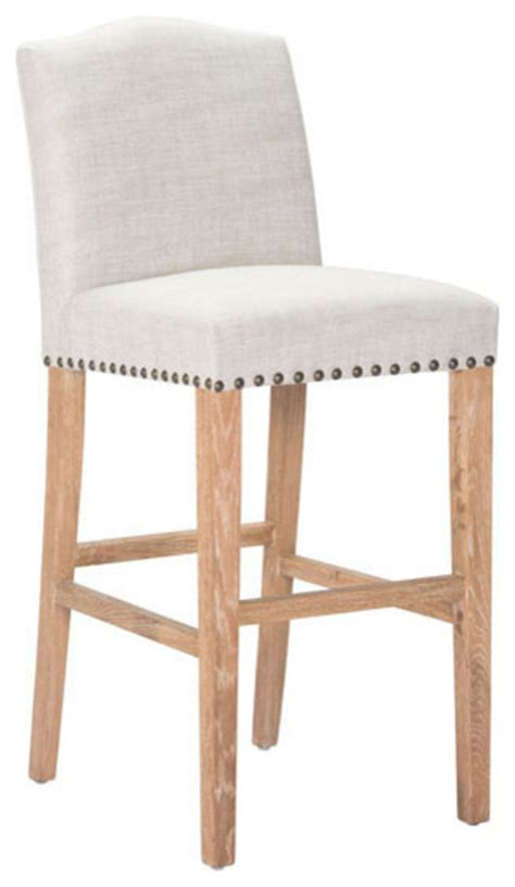 modern farmhouse counter height stools zuo modern pasadena 24 quot counter height chair in beige