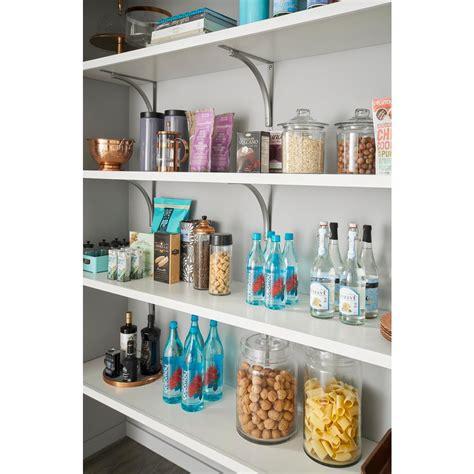closetmaid impressions 48 in white top shelf kit 14485