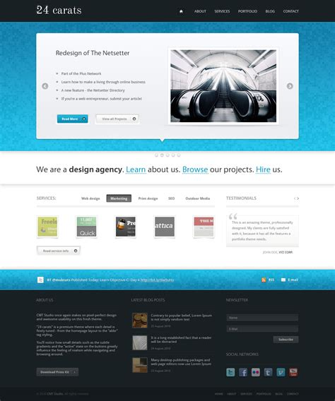 24 carats business portfolio by ordinarythemes themeforest