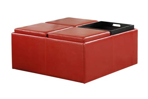 leather ottoman with storage red leather storage ottoman at gardner white