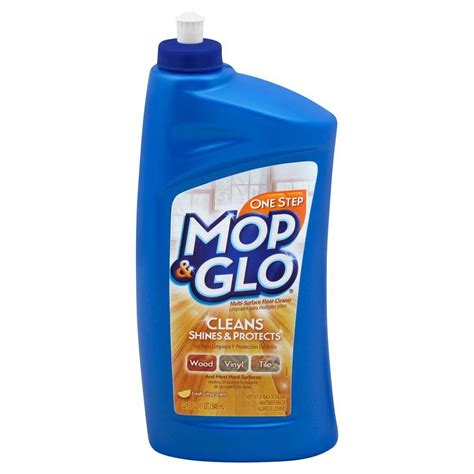 mop glo 32 oz triple action floor shine cleaner 19200 89333 the home depot