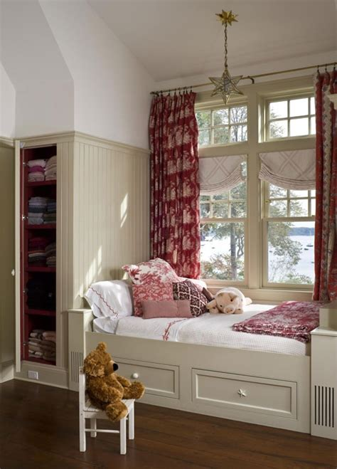 bedroom window seats with storage a window seat by day guest bed by night with built in storage in a narrow cupboard