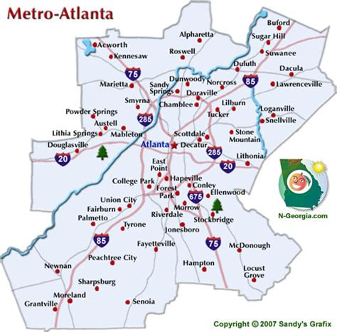 atlanta map in us map of atlanta atlanta maps mapsof net