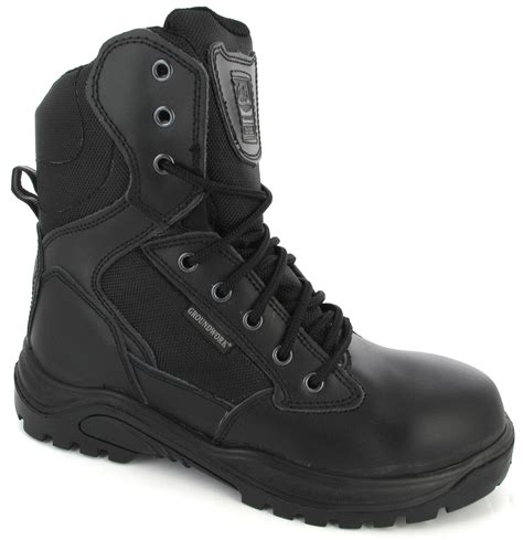 mens combat boots uk mens black army leather security combat