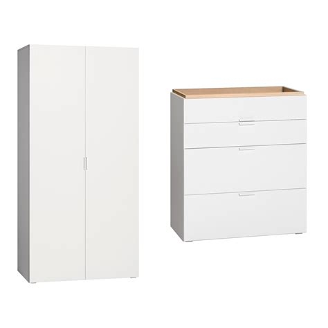 Armoire à Langer by Commode 224 Langer Et Armoire 2 Portes Vox 4you Blanc