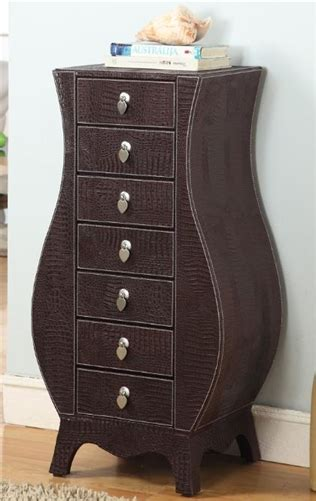leather jewelry armoire leather jewelry armoire with seven drawers
