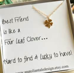 day special gifts to amaze your sweetheart four leaf clover necklace best friend gift christmas gift for best friend shamrock necklace