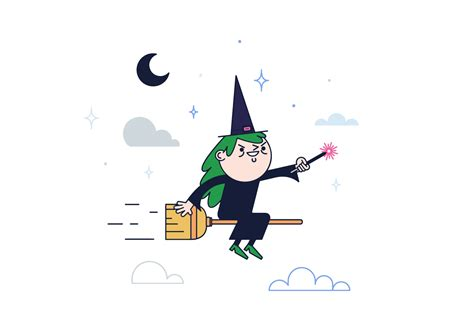 witch vector   vector art stock