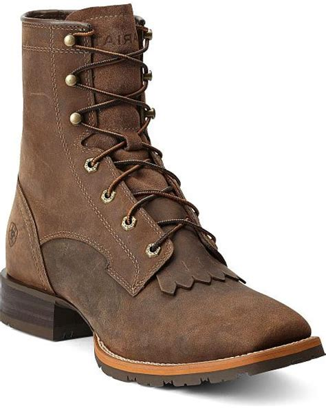 square toe lace up boots ariat hybrid 8 quot lace up rancher boots square toe sheplers