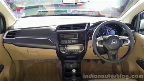 Amaze Car Interior by 2016 Honda Amaze Facelift Interior Launched Indian Autos