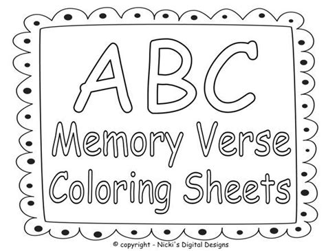 abc bible memory verse coloring sheets children s bible