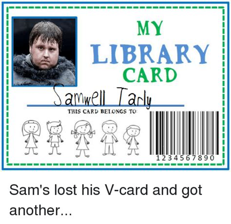 Template I Got My Library Card Today by My Library Card Am Well Lanlu This Card Belongs To