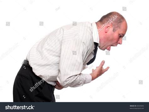 white vomit vomiting businessman on white background stock photo 60335092