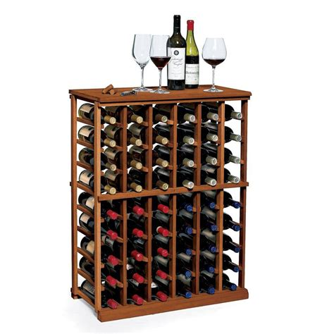 N Finity Wine Rack by Wine Enthusiast N Finity 60 Bottle Walnut Floor Wine Rack