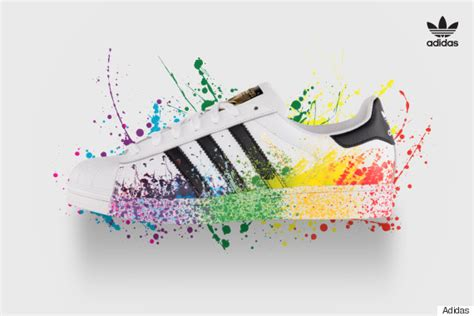 Jaket Tenis Adidas Pharrell William Ny Ltd White Multicolor Original adidas introduces three lgbt friendly designs on its iconic footwear in honor of pride month