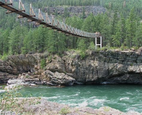 kootenai falls swinging bridge panoramio photo of swinging bridge below kootenai falls