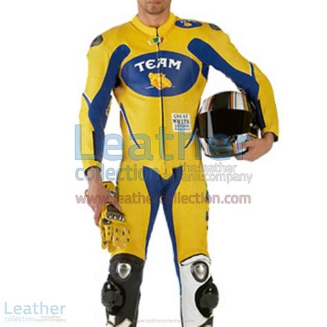 Motorradrennen Rossi by Vr46 Mannschaft Motorradrennen Lederanzug Valentino