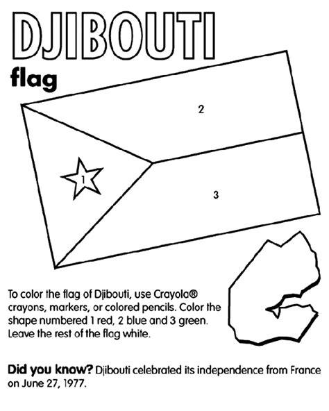 flag coloring pages crayola djibouti crayola ca