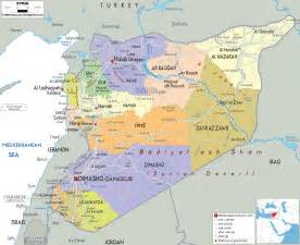 Syria On Map by Political Map Of Syria Ezilon Maps