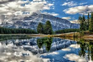 National Geographic Wall Mural mount rundle vermillion lakes banff national park alberta