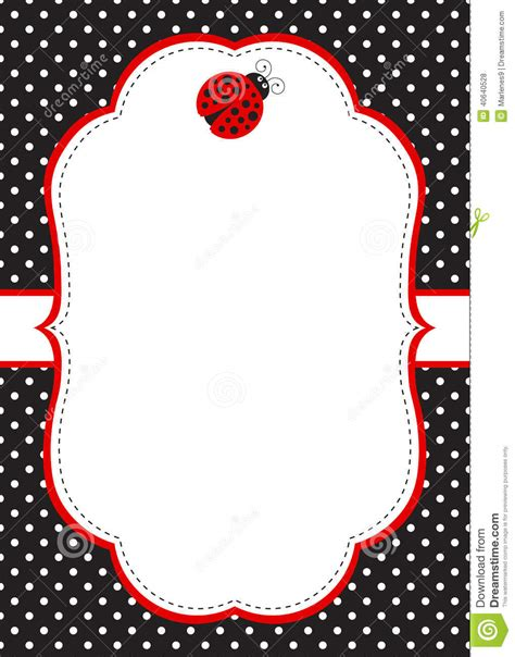 evite template ladybug invitation template stock vector image 40640528
