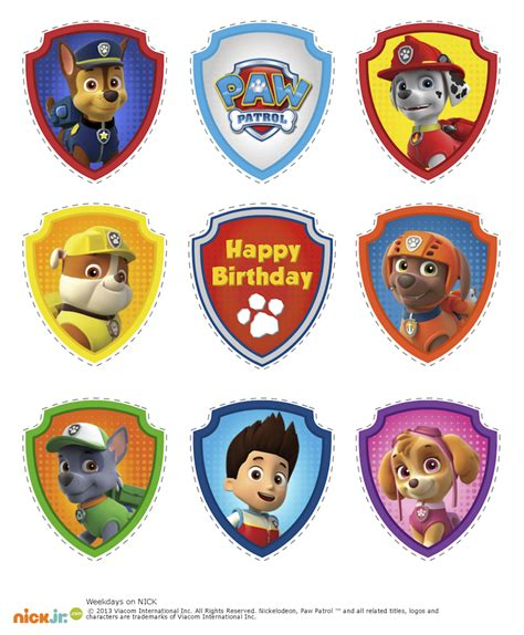 printable paw patrol birthday decorations paw patrol birthday