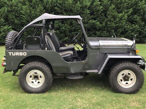 mitsubishi j54 1991 mitsubishi jeep j54 cj 3b turbo diesel 4x4 clear us