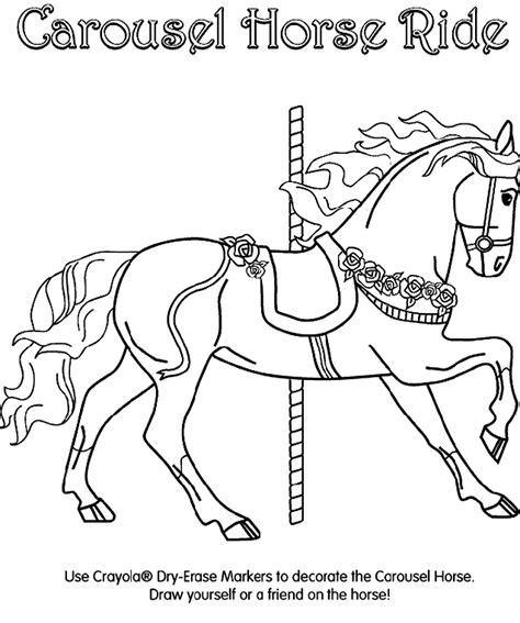 free coloring pages of carousel horses carousel coloring page crayola