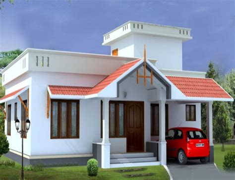 low budget home plans low budget 1054 sqft small plot 2 bedroom kerala home plan