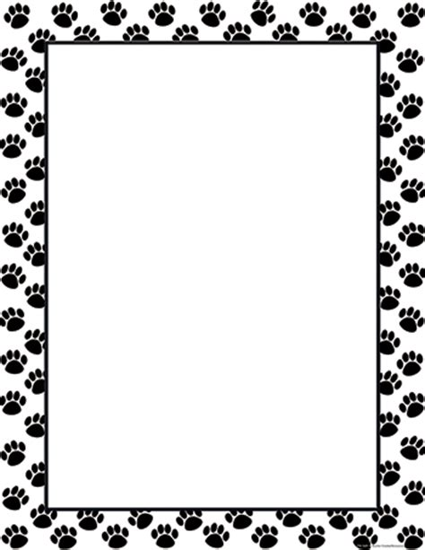Paw Print Page Border Clip by Png Paw Page Border Clipart Best