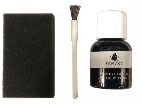 teinture pour canapé cuir kit de teinture noir pour changer la couleur de vos chaussures