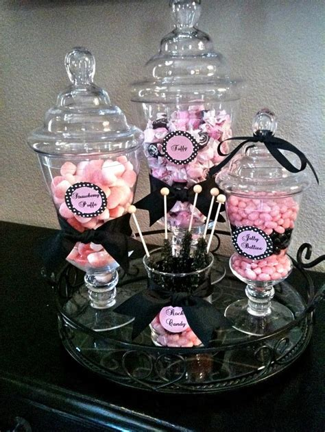 Pink And Black Candy Buffet Google Search Glitter Glam Pink And Black Buffet